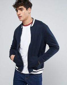 Abercrombie & Fitch Sweat Bomber in Washed Navy
