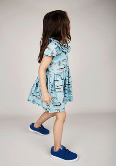 Mini Rodini SS15 blue fish dress