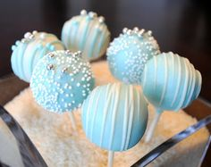 Tiffany Blue Cake Pops