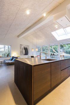 Inspiration: Akustikloft i i hus med beton og glas   Troldtekt
