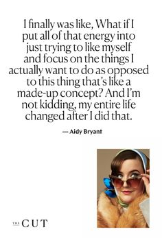 "Aidy Bryant on the moment she describes as a ""switch flipping"" in her life. Aidy Bryant, Cutting Quotes, Body Positive Quotes, Saturday Night Live, Body And Soul, Good Advice, Flipping, Comedians, Quotations"