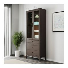 """REGISSÖR Glass-door cabinet with 4 drawers  - IKEA  