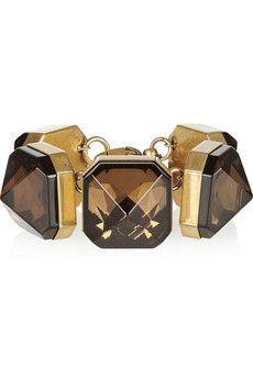 Gucci Gold-plated crystal bracelet | NET-A-PORTER