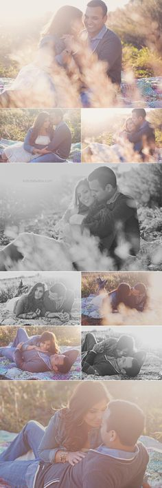 I love this idea for couple or engagement pictures