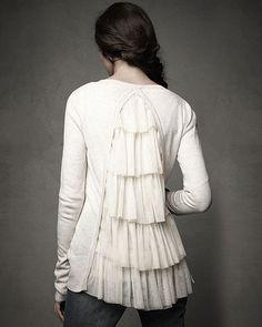 Ruffle-back Sweater