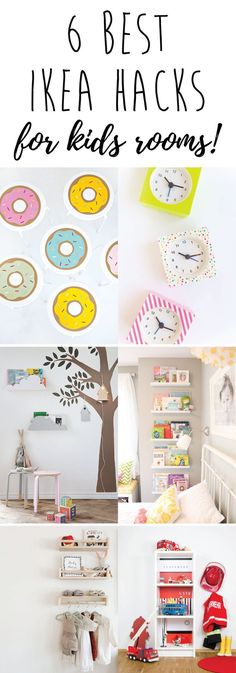 6 Best IKEA hacks for kids. Put your own twist on IKEA basics with these fun DIY projects | IKEA hacks | IKEA hacks kids playroom | DIY | DIY kids | DIY project | Nursery decor | Kids Room |