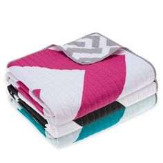 madison park libra reversible quilted throw     bedbathandbeyond