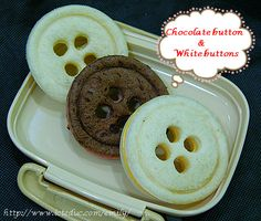 Giant button sandwiches - so clever!