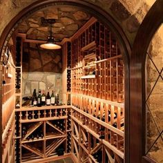 by Advanced Renovations, Inc.  Wine cellar and sauna