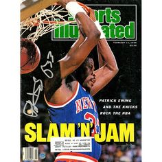 Steiner Sports Patrick Ewing Signed 1989 Sports Illustrated Magazine, Multicolor