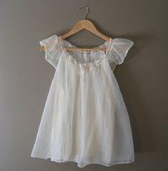 vintage Babydoll Nightie / 1960s Lingerie / Lace   #vintage #vintagelingerie