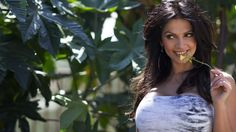Denise Milani Lucky Yellow Flower Wallpaper | WallpapersMyth - HD Wallpapers