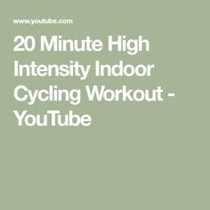 20 Minute High Intensity Indoor Cycling Workout - YouTube Indoor Cycling, Bike Indoor, Spinning Workout, Cycling Workout, Interval Training, At Home Workouts, Sport, Health, Youtube