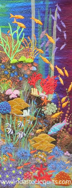 Life on the Reef by Linda Steele -Selected for the A Matter of Time Exhibition currently on tour
