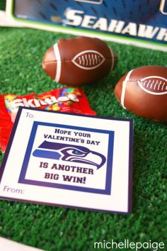 Seattle Seahawks Football Valentines