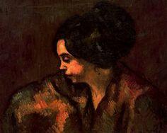 "Isidre Nonell Monturiol (1873 - 1911). ""Lasitud, 1910"". Óleo sobre lienzo. 57 x 72,5 cms. Museo de Arte Moderno. Barcelona. España."