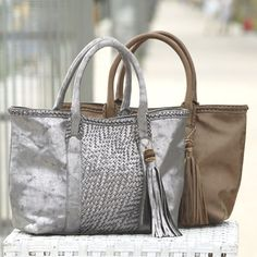 Woven East West Tote from Monroe and Main   WI719215