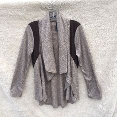 Brown Cowl Neck Waterfall Jacket Cardigan