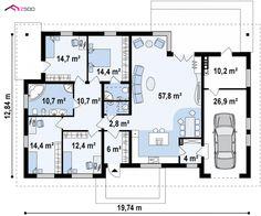 Z153 to wyjątkowy dom z kategorii projekty domów z większą liczbą pokoi