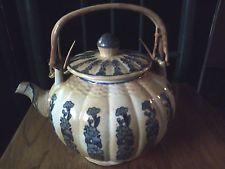 Antike Weinlese-PORZELLAN TEE-TOPF - LARGE Teedose Kürbis-Form - TEA POT URN