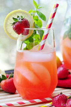 Strawberry lemonade punch