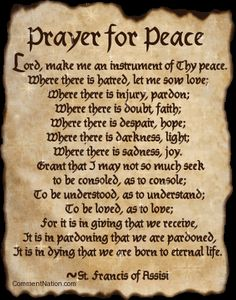 Prayer of St. Francis of Assisi. I know it in three other languages....French, Spanish&  Italian
