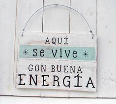 Cartel vintage   BUENA ENERGIA