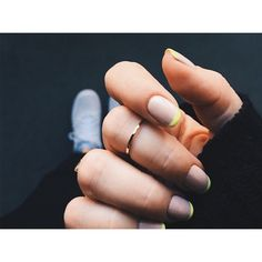 For Summer try this electric french manicure that adds a cool twist to the classic look.
