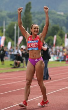 Jessica Ennis Photos - Jessica Ennis of Great Britain celebrates during the Women's Long Jump in the women's heptathlon during the Hypomeeting Gotzis 2012 at the Mosle Stadiom on May 2012 in Gotzis, Austria. Heptathlon, Jessica Ennis, Jennifer Ennis, Photos Fitness, Long Jump, Fit Black Women, Beautiful Athletes, Athletic Girls, Women Volleyball
