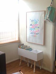 Kmart three tier shelf and stools