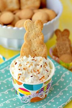 This Coconut Cream Pie Cheesecake Dip Recipe SO quick & easy to make, 5 minutes is all you need! This dessert dip will be a fabulous addition to your Easter dessert table.