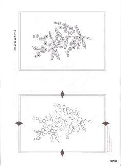 Silver Wattle Pinbroidery pattern
