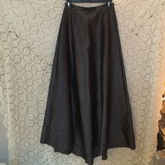 Formal Prom Maxi Skirt Very long fitted formal high wasted skirt. Perfect for wedding or prom. Gunmetal grey color. Has short train, 43 inches long in front, 47 inches long in the back, 26 inch waist. Has pockets!!! Express Dresses Prom