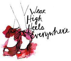 high heels everywhere!