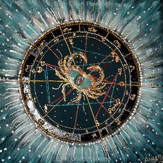 Sun in Cancer- Birth chart painting