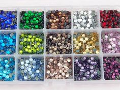 SS20 5mm 3000 Hot Fix Rhinestone Mixed in Storage Box-- Free Shipping $0.0097