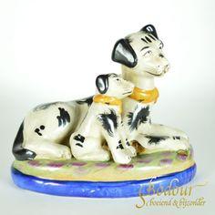 Honden beeld Victoriaans Staffordshire aardewerk Engeland Products, Gadget