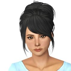 Peggy`s 0030 hairstyle retextured by Sjoko for Sims 3 - Sims Hairs - http://simshairs.com/peggys-0030-hairstyle-retextured-by-sjoko/