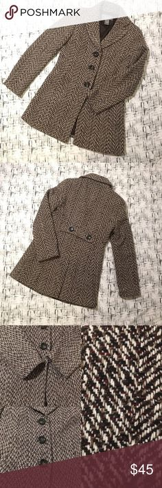 Ann Taylor Herringbone Tweed Coat Multiple Colors Gently used with no flaws Please see pictures for exactly details Ann Taylor Jackets & Coats