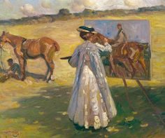 Laura Knight Painting by Alfred James Munnings | © estate of Sir Alfred Munnings. All rights reserved, DACS 2013 photo credit: Norfolk Museums & Archaeology Service (Norwich Castle Museum & Art Gallery)