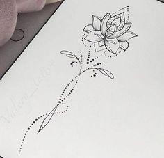 30 Trendy Flowers Drawing Design Tattoo Lotus Mandala The post 30 Trendy Flowers Drawing Design Tattoo Lotus Mandala appeared first on Best Tattoos. Spine Tattoos, Body Art Tattoos, Sleeve Tattoos, Tatoos, Drawing Tattoos, Script Tattoos, Hindu Tattoos, Buddha Tattoos, Arabic Tattoos