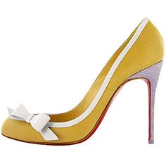 All You Need is Love And Christian Louboutin Beauty 100mm Pumps Yellow EUJ!