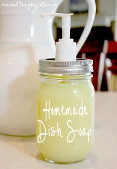 """Yesterday I got an email from someone asking about a Homemade Dish Soap recipe. My initial reaction was """"I've already done that!"""", but then I thought about it for a minute and realized that is something I HAVEN'T done a post on before! I could hardly believe it. lol. How could I have missed THAT …"""
