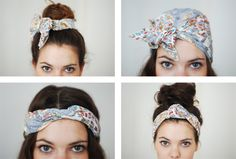 four ways to wear a scarf in your hair