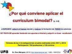 ¿Por qué conviene aplicar el currículum bimodal?