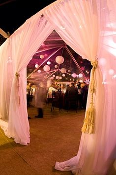 Canopy tent idea for reception (not with this beachy-ness)