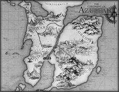 A Map of Azuleah - the world in my novel