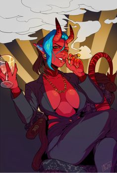 "grapeyguts: ""commission for the super friendly ! Fantasy Character Design, Character Concept, Character Art, Concept Art, Dark Fantasy Art, Fantasy Girl, Female Demons, Ahegao, Demon Art"