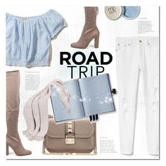 """""""Rev It Up: Road Trip Style"""" by nabilazfr ❤ liked on Polyvore featuring Hollister Co., Steve Madden, Valentino, Gap and roadtrip"""