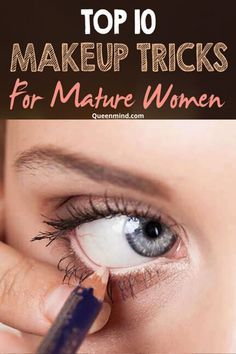 Mature Makeup Tips, Makeup Tips Over 50, Makeup Tips For Older Women, Best Makeup Tips, Best Makeup Products, Makeup Tricks, Makeup Videos, Eyebrow Makeup, Skin Makeup
